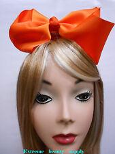 orange Handmade Big huge Girl Extra Large Boutique JUMBO Satin clip Hair Bow