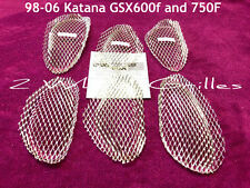 1999 SUZUKI KATANA GSX 600F 750F CUSTOM CHROME FAIRING SCREENS GRILLS HOT!!!!!!