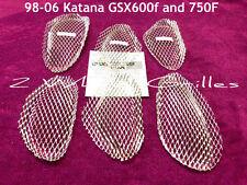 06 2006 SUZUKI KATANA GSX 600 F 750 F CHROME FAIRING SCREENS GRILLS MESH