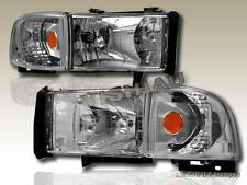 94-02 Dodge Ram 2500/3500 / 94-01 1500 Headlights Corner Lights 2000 1999 Clear