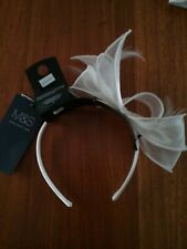 Marks and spencer womens White  Bow/Feather Headband Fascinator BNWT