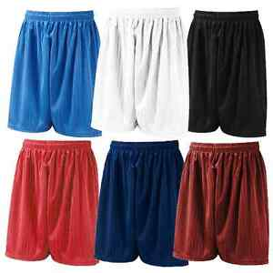 Mens Boys Plain Football Gym Running Hockey PE Sports Shorts Sizes S M L XL XXL
