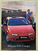 1994 Nissan NX Coupe original Australian sales brochure