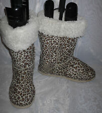 Unbranded Animal Print Faux Suede Boots for Women