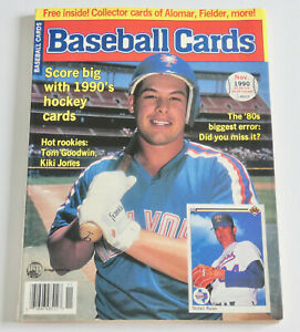 BASEBALL CARDS MAGAZINE Nov 1990 Issue Mets GREG JEFFERIES Cover + 6 Uncut Cards