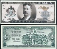 Lot of 500 BILLS -Theodore / Teddy Roosevelt Million Dollar Note w Rough Riders