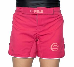 Fuji MMA BJJ Womens No Gi Baseline Grappling Competition Fight Shorts - Pink