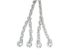 Set of 2 Galvanized Metal Chain for Swing Seats Climbing Frame 5mm 1.8M