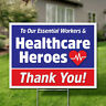2Pcs Thank You Healthcare Workers Heroes Yard Garden Signs Stickers Wall Decor
