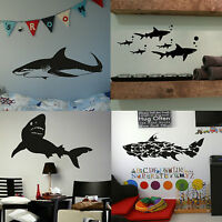 Shark Vinyl Wall Stickers Boys Transfer Graphics Great White Decal Decor Stencil