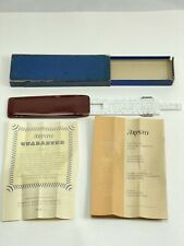 ARISTO RIETZ Nr.890 Vintage Slide Rule with Leather Case Made in Germany