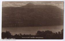 Ben Lomond & Loch Lomond, Argyllshire, Scotland vintage real photo Postcard 1915