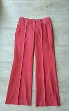 Pantalon large rouge MANGO taille 36
