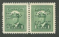 "CANADA B.O.B. 4-HOLE OHMS O249 MINT PAIR VF ""F"" MISALIGNED"
