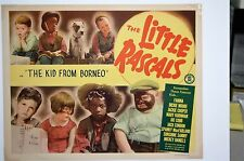 """Set of 4 Little Rascals """"The Kid from Borneo"""" Stock Title Lobby Card (11 x 14)"""