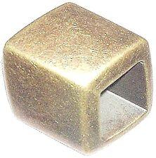Schalperle - Tuchperle eckig altgold 45/35 mm