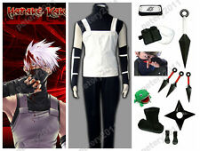 7 Adult Children Naruto Shippuude Hatake Kakashi Anbu Cosplay Costume Set
