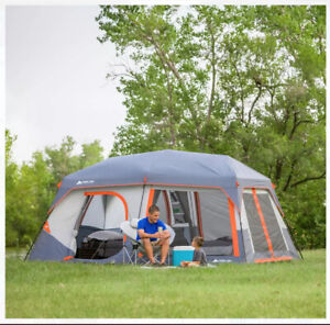 NEW OZARK TRAIL 10 PERSON INSTANT CABIN TENT WITH BUILT-IN LED LIGHTS