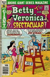 Archie Giant Series Magazine No 474 Very Fine Minus High Grade Archie 1978