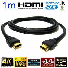 1M Cable HDMI Premium Metros Chapado en Oro v1.4 para PS4 Xbox Ultra HDTV Sky TV Apple