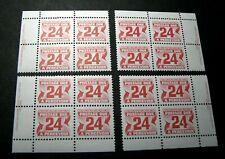Canada Stamp Scott# J39 Postage Due 1969-78 Marched Blocks MNH H91