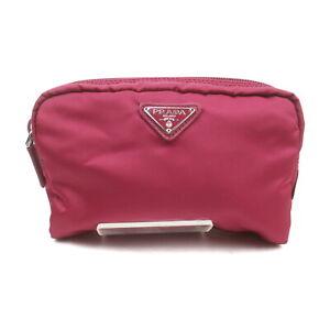 Prada Cosmetic Pouch Bag  Hot Pink Nylon 1420921