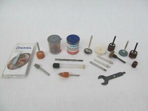 Lot of Dremel Rotary Tool Accessories – Grinding Wheels, Mandrels, Etc