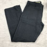 New Goodfellow & Co Utility Pant Mens 36X32 Black Relaxed Fit Straight Leg