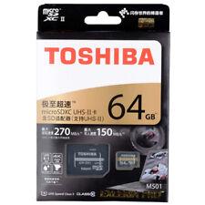 TOSHIBA EXCERIA Pro SDXC 4K Memory TF U3 Card M501 64GB UHS-II MicroSD 270mb/s