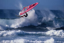 568021 enorme OFF THE LIP HOOKIPA MAUI il re Robby Naish A4 FOTO STAMPA