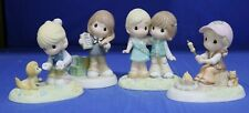 Girl Scout Precious Moments Figures Set of Four (4) 102009 102010 104029 104032