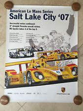 Porsche Original Factory Poster-2007 American Le Mans-Salt Lake City-RS Spyder