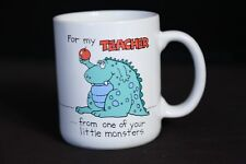 For My Teacher… from one of your little monsters 1986 Mug