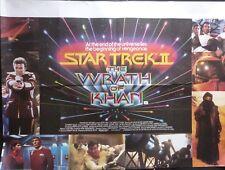 STAR TREK II THE WRATH OF KHAN 1982 QUAD POSTER WILLIAM SHATNER LEONARD NIMOY
