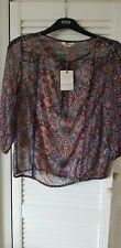 Gorgeous Indigo blouse size 8  BNWT