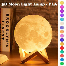 3D Print Moon Lamp Colorful Change Touch Usb Led Night Light Home Decor Creative