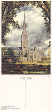 1980's SALISBURY CATHEDRAL SALISBURY WILTSHIRE POSTCARD FROM A PAINTING