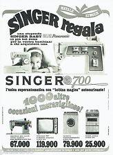 PUBLICITE ADVERTISING 046  1969  Singer machine à coudre 700  lave linge