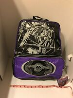 New NOS Retro Star Wars Backpack Darth Vader, Padded Laptop Black Purple Rebel