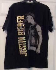 Justin Bieber T-Shirt  Black 2-Sided L