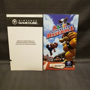 Instruction Manual Booklet ONLY Mario Superstar Baseball Gamecube GC
