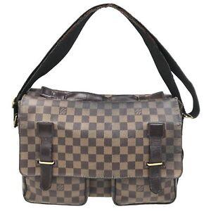 100% Authentic Louis Vuitton Damier Broadway Shoulder Bag N42270 Used {06-0003}