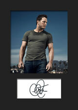 CHRIS PRATT A5 Signed Mounted Photo Print - FREE DELIVERY