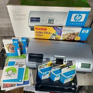 HP Photosmart 8450 Digital Photo Color Inkjet USB Printer Bluetooth +extras