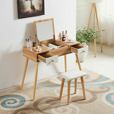 Wooden Dressing Table Makeup Desk Mirrors Make Up Table Dresser