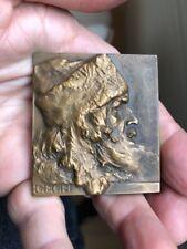Rare Amazing Plaque Bronze Medal Of A Cech Czech Man By Sucharda !
