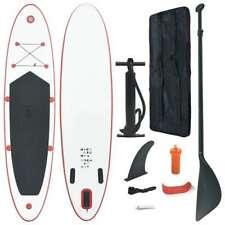 vidaXL Tabla de SUP Paddle Surf Inflable Roja y Blanca con Remo Aleta y Bolso