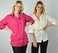 YESSICA Linen Blouse Shirt in Pink or Ivory RRP £25