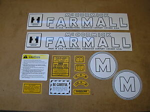 IH / McCORMIC / FARMALL / M  / NEW / DECAL SET / FOR TRACTORS / # 21-17-1