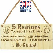 5 Reasons You Should Drink Here Bar And Pub Signs Home Bar Decor Funny Alcohol